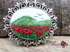 Brooch Poppies