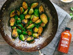 Recipe: Honey and Sriracha Glazed Brussels Sprouts | #vegetarian