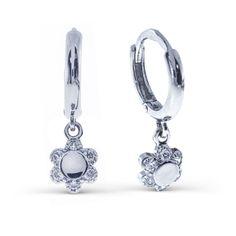 Серьги из серебра 925 пробы с фианитами (арт. 0200332-00775) - ювелирный магазин LINIILUBVI.RU