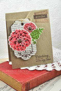 Thinking Of You Card by Dawn McVey for Papertrey Ink (July 2013)