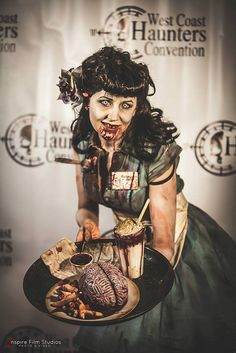 Zombie Waitress | Flickr - Photo Sharing! Photo courtesy of James L Kugler of Inspire Film Studios. Winner of 2013 costume ball!! Awesome!