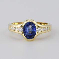 The Gull Blue Sapphire & Diamond Ring