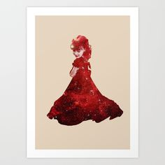#society6 #girl #stars #red #beautiful #shop