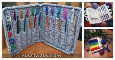 Are your hooks are all over the place? If your answer is yes, you'll love this ingenious Crochet Hook Case Free Crochet Pattern. It is a really nice, durable and super useful case. Diy Crochet Hook Case, Crochet Hook Sizes, Crochet Hooks, Crochet Blankets, Crochet Bolero Pattern, Crochet Patterns, Crochet Ideas, Ravelry Crochet, Free Crochet