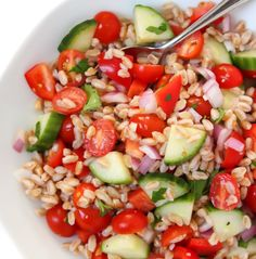 The Garden Grazer: Greek Farro Salad (Vegan!)