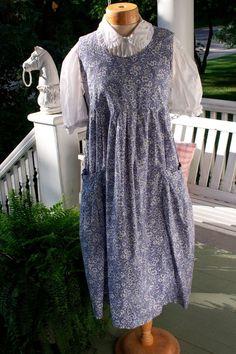 Laura Ashley Vintage 80s Cornflower Blue Print Smock Dress. My goodness, the money I spent on these dresses!