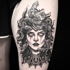 Medusa by Amanda Riner at Slave to the Needle in Seattle, WA.