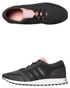 ADIDAS ORIGINALS WOMENS LOS ANGELES SHOE - BLACK BLACK POP