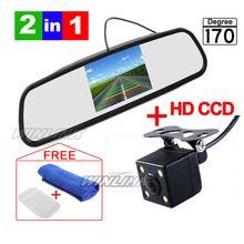 Σύστημα Οθόνες αδιάβροχο στάθμευσης CCD HD, LED Night Vision 170 αυτοκίνητο οπίσθια προβολή κάμερας με 4,3 ιντσών αυτοκινήτου καθρέφτη Monitor