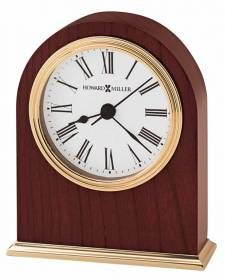 Arched Rosewood Brass Base Tabletop Clock | 645401 Howard Miller