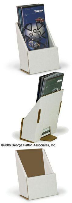 Free Standing Die Cut Vinyl Literature And Brochure Holder 4w X 6