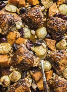 Chicken, pumpkin & chorizo bake