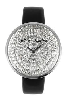 Women's All Cry Black Leather Band Watch