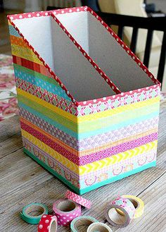 If You Have Empty Cereal Boxes Do not Tires Here We Bring Ideas To Reuse! Never Imagine That! Back To School Diy Organization, Desk Organization Diy, Cardboard Box Crafts, Cool Paper Crafts, Cardboard Organizer, Cardboard Toys, Diy Home Crafts, Diy Arts And Crafts, Diy Storage Boxes