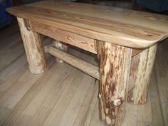 Rustic Forest Furniture. log coffee table.