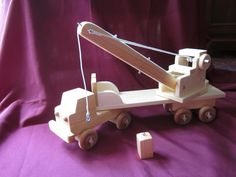 Hand Made Wooden Toy Crane