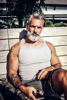 #Beard #Muscles #GreyBeard