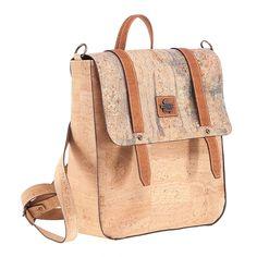Rucksack «Mapa Prestige» aus Kork – Veganer Rucksack online kaufen Leather Backpack, Backpacks, Fashion, Maps, Personal Style, Natural Colors, Pocket Wallet, Leather, Vegans