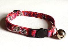 Cat Collar  Handmade  Retro Paisley cord by ItsAlicesImagination