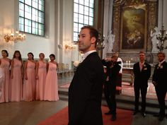 Sander, een trotse bruidegom.