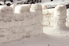 Snow fort construction methods... what every kid in snow country needs to know.
