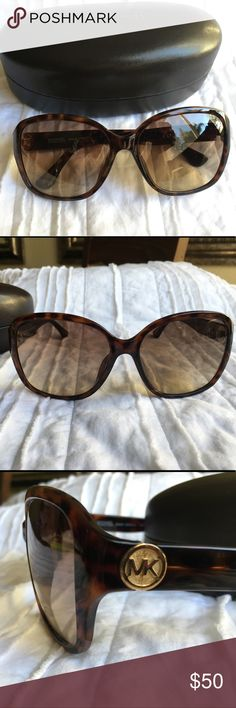 Michael Kors Sunglasses EUC Michael Kors Sophia tortoise sunglasses. No scratches on lenses, in excellent condition. There is minimal wear on the case from being in my purse, please zoom in to see. Michael Kors Accessories Sunglasses