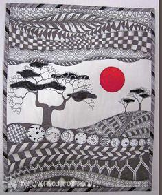 #Zendscape (Red #Sun) Art #Quilt
