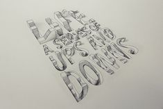 3D Typography // Life: A series of ups and downs