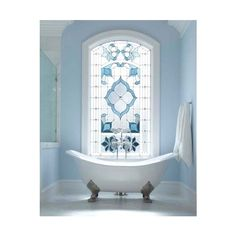 Regain Your Bathroom Privacy Natural Light w/This Window Treatment ❤ liked on Polyvore featuring beauty products