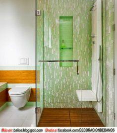 BAÑOS EN TONOS VERDES : BAÑOS: Fotos de baños - Videos de decoración de baños