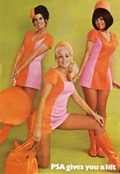 Pacific Southwest Airlines (PSA), those uniforms were the best!!