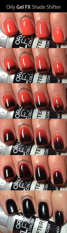 Orly Gel FX Shade Shifter....OMG!!!! It's like wearing a mood ring on your nails. HOw awesome is that!!! Well, I think it is anyway!