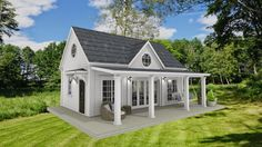 Dreams & Coffees arkitekt- och projektblogg: Fritidshus på 40 kvadratmeter i New England stil New England, Compact Living, Happy House, Gazebo, House Plans, Shed, Cottage, Outdoor Structures, House Design