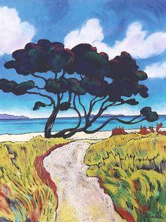 Wendy Leach Artist - New Zealand New Zealand Landscape, New Zealand Art, Nz Art, Create Canvas, Kiwiana, Color Pencil Art, Canvas Paper, Design Art, Tile Design