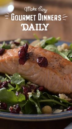 Your quick fix for fighting cravings and living healthier. Try this tasty, fool-proof grain bowl featuring Craisins® Dried Cranberries, add your favorite protein, and voilà - you have gourmet dinner in under 30 minutes! Also perfect as a mid-day meal or s Salmon Recipes, Fish Recipes, Seafood Recipes, Healthy Dinner Recipes, Cooking Recipes, Clean Eating, Healthy Eating, Southern Recipes, Southern Food
