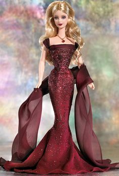 January Garnet Barbie Doll - Special Occasion - 2003 The Birthstone Collection -  Barbie Collector
