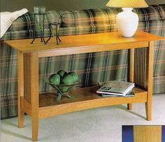 Mission-style sofa table from Woodsmith Custom Woodworking's American Style: Shaker, Mission & Country Projects. If interested, please ask for a free quote on this item. We'd love to build it for you.