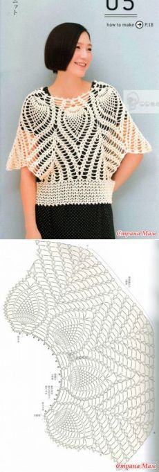 46 ideas crochet shrug diagram ponchos for 2019 Gilet Crochet, Crochet Poncho Patterns, Crochet Shirt, Crochet Cardigan, Crochet Lace, Crochet Stitches, Crochet Clothes, Pulls, Creations