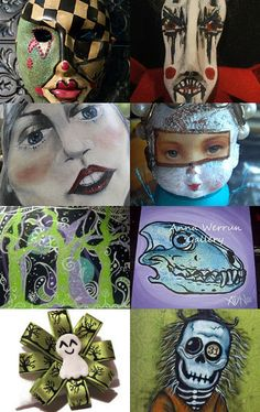 scary selections from Pretty Awful Team for October by Lorraine on Etsy--Pinned with TreasuryPin.com