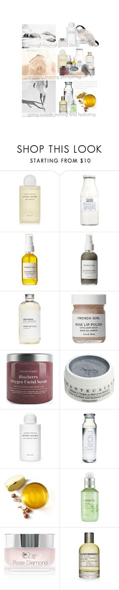 """""""Cela Nous Fait Sentir Bien / It Makes Us Feel Good"""" by halfmoonrun ❤ liked on Polyvore featuring beauty, Byredo, Rituals, French Girl, Chantecaille, Susquehanna Glass, The Face Shop, The Organic Pharmacy, Le Labo and Morgan Lane"""