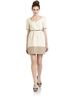Hanii Y Belted Short-Sleeve Dress