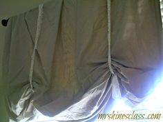 roman valance, inverted pleat, no sew, window treatment, french country, shade, breakfast room, home decor