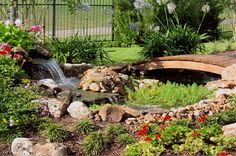 landscape waterfalls and ponds | waterfall clear lake landscape design houston pond clear lake wood ...