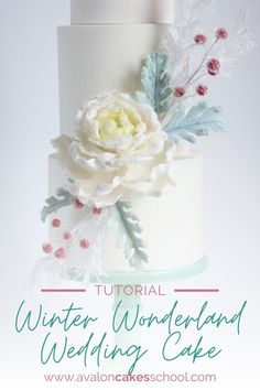 Winter Wonderland weddings are becoming more popular every year. We've got you covered in this elegant frosted floral and foliage cake! In this cake decorating course, we show you how to create a gorgeous peony flower, Dusty Miller leaves (with their signature fuzzy dust texture), white spruce and red frosted berries! The techniques in this cake can easily be used all year round! Avalon Cakes School has hundreds of cake tutorials, cookie tutorials, and cake decorating masterclasses.