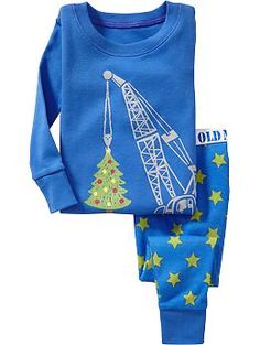 3T For Anthony Christmas-Crane PJ Sets for Baby