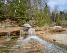 Sprintime at Elliot Falls, Pictured Rocks National Lakeshore