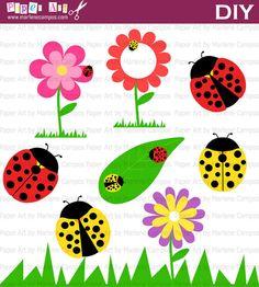 INSTANT DOWNLOAD  Lady bugs Clip Art digital by PaperArtbyMC, $4.99