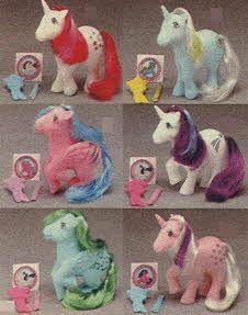 My Little Pony Unicorn and Pegasus glittered with magic fairy dust, - Moondancer, Sunbeam, Firefly, Glory, Medley or Twilight $4.99 each 1984