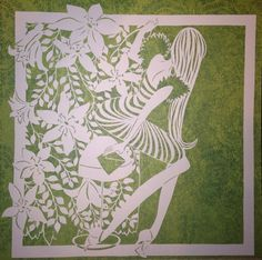 Original paper cut-behind the curtain by DESIGNPAPER on Etsy