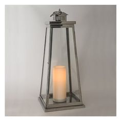 Paradise Garden Lighting Stainless Steel Outdoor Decorative Lantern with Flickering LED Candle